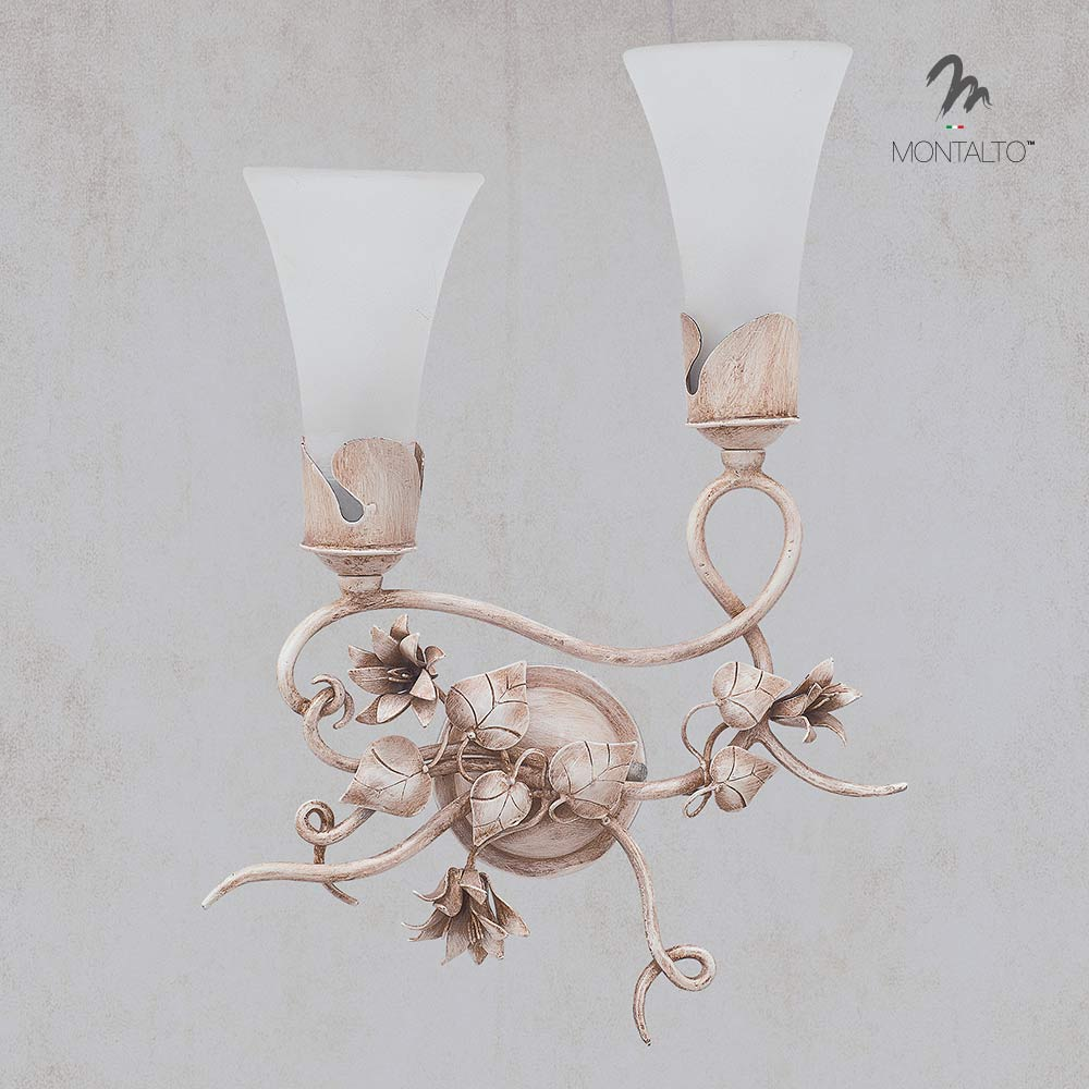 flower wall sconces aster