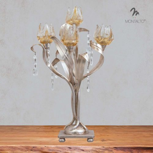 murano glass desk lamp giglio