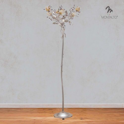 murano glass floor lamp with crystal gradara
