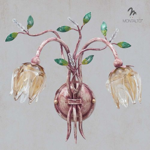 murano glass wall lamp sconces lilium